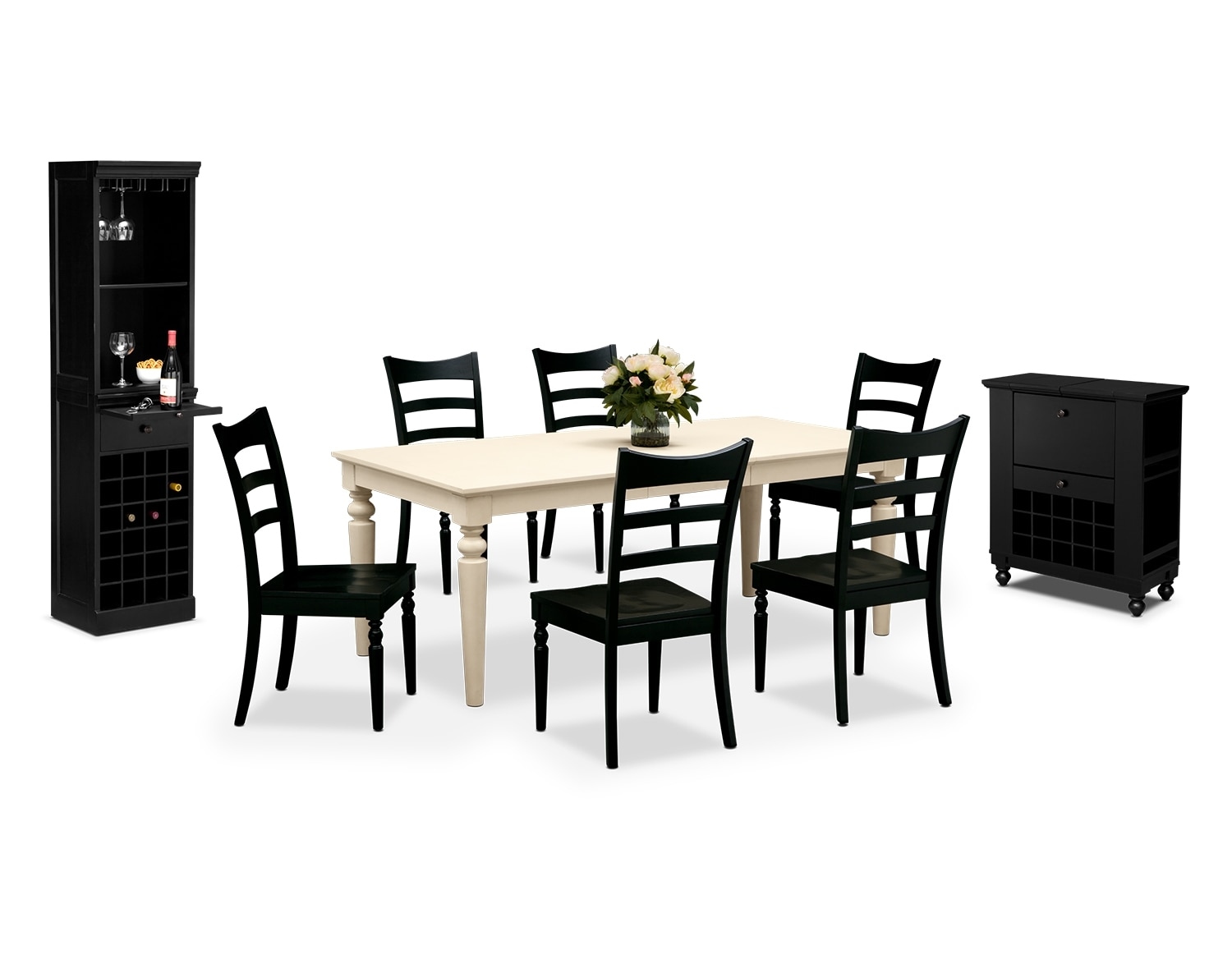 Dining Room Furniture - The Thompson Black Collection - Table