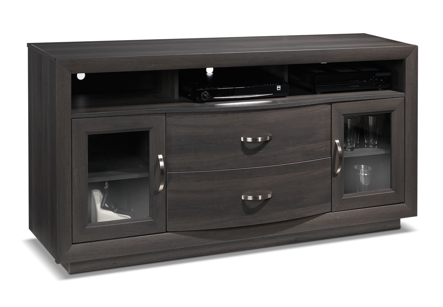Entertainment Furniture - Bruno TV Credenza - Grey