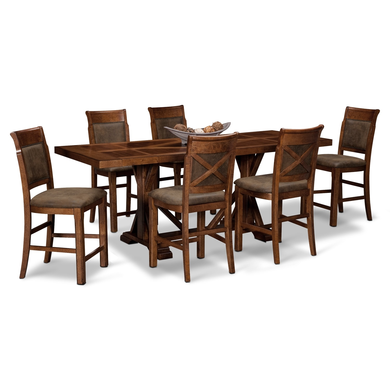 dining room furniture austin walnut 7 pc counter height dining room