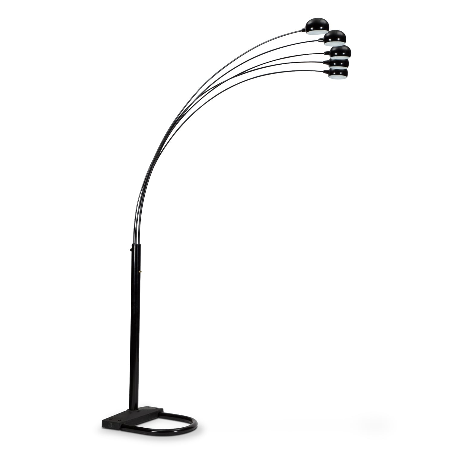 black arc floor lamp value city furniture. Black Bedroom Furniture Sets. Home Design Ideas