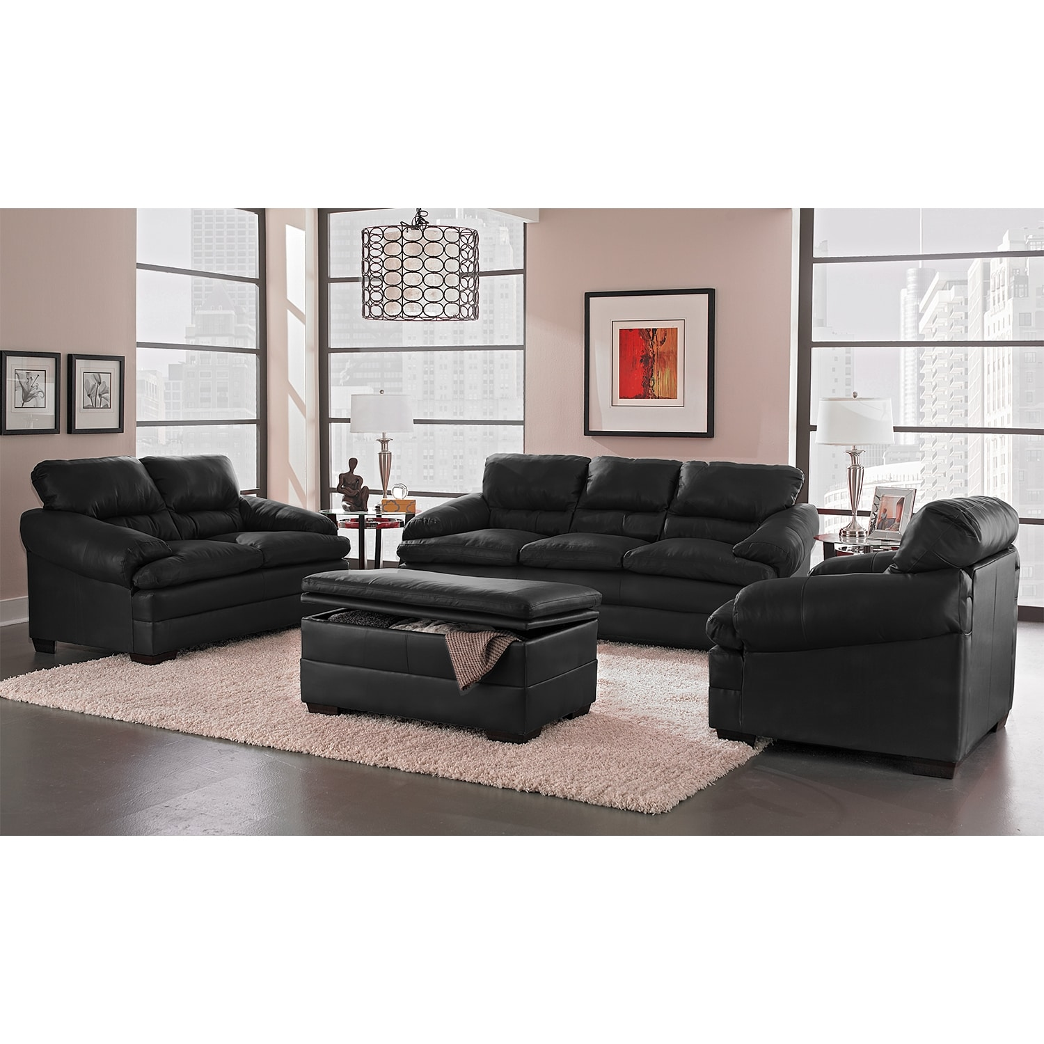 Living room furniture torino ii 2 pc living room wchair