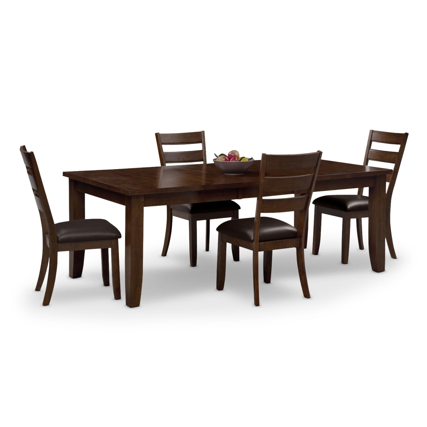 Furniture City Dining Room Suites: Abaco Table And 4 Chairs - Brown