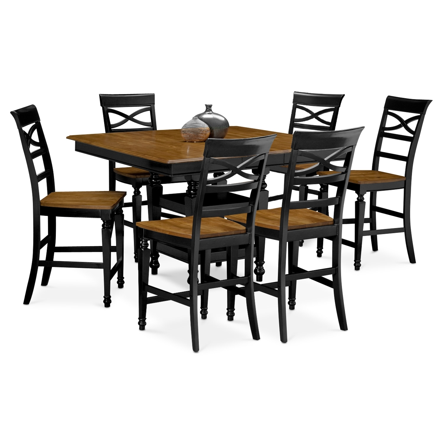 dining room 7 pc counter height dining room value city furniture