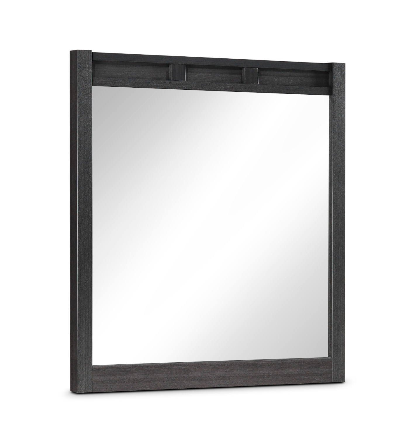Mojave Mirror - Charcoal & White