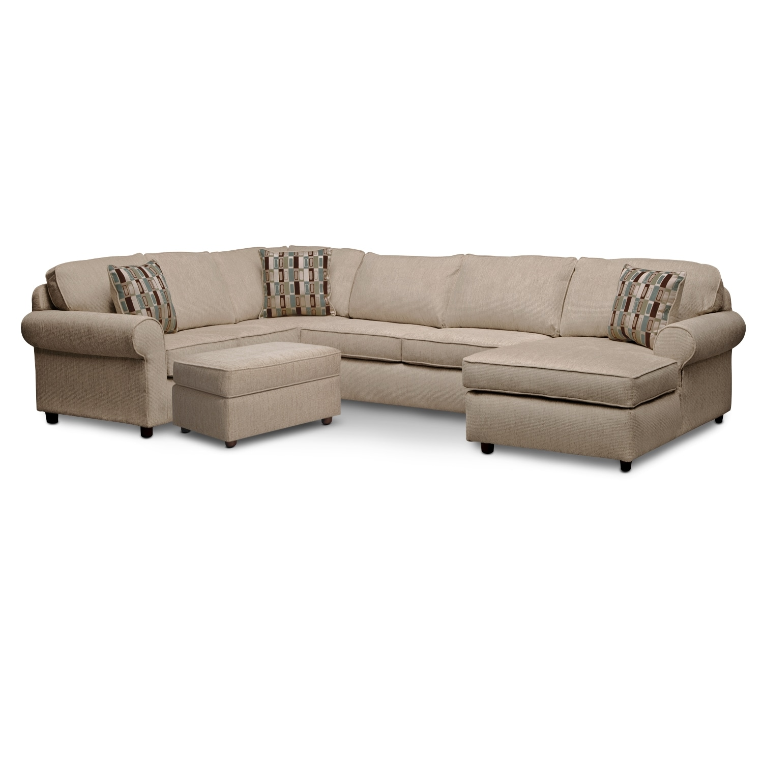 [Monarch II 3 Pc. Sectional and Ottoman]
