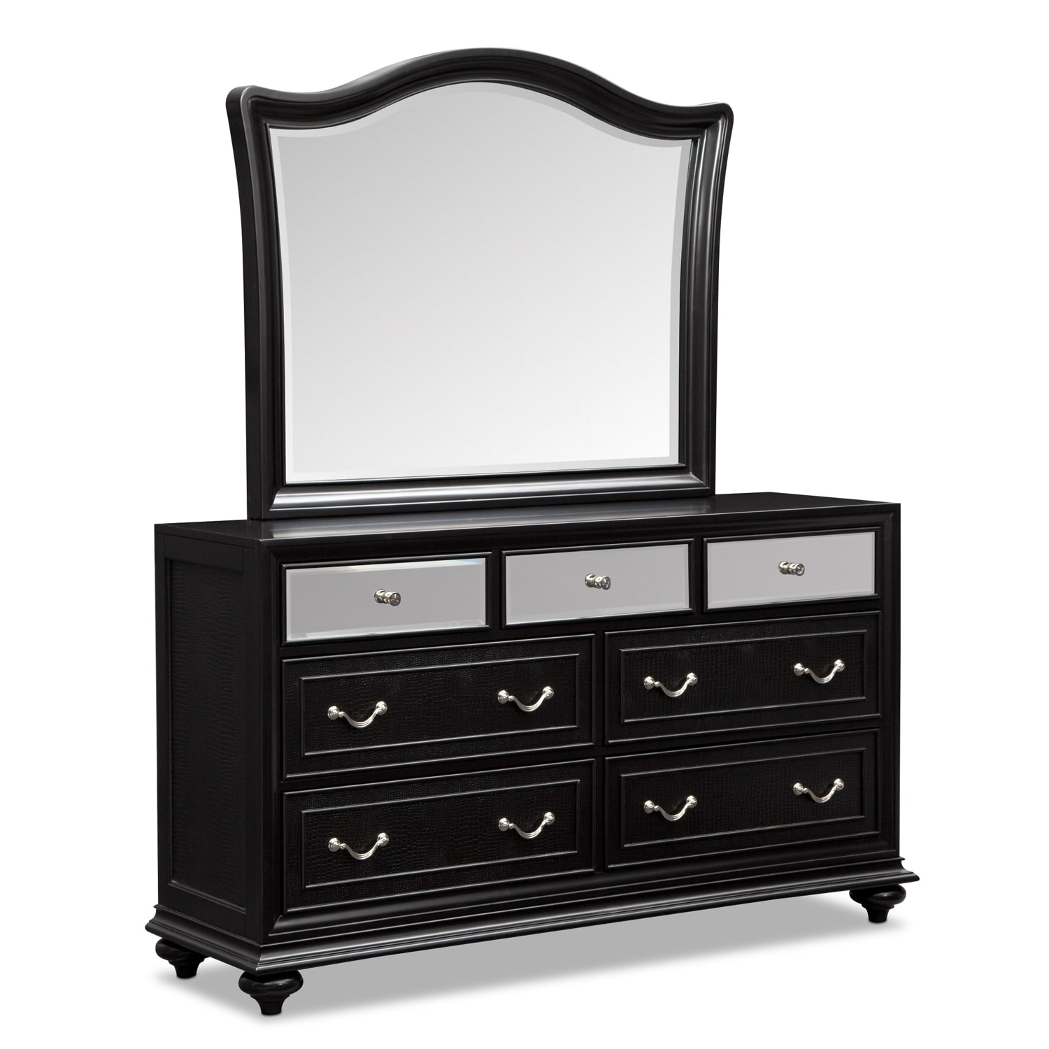 Marilyn Dresser And Mirror Ebony Value City Furniture