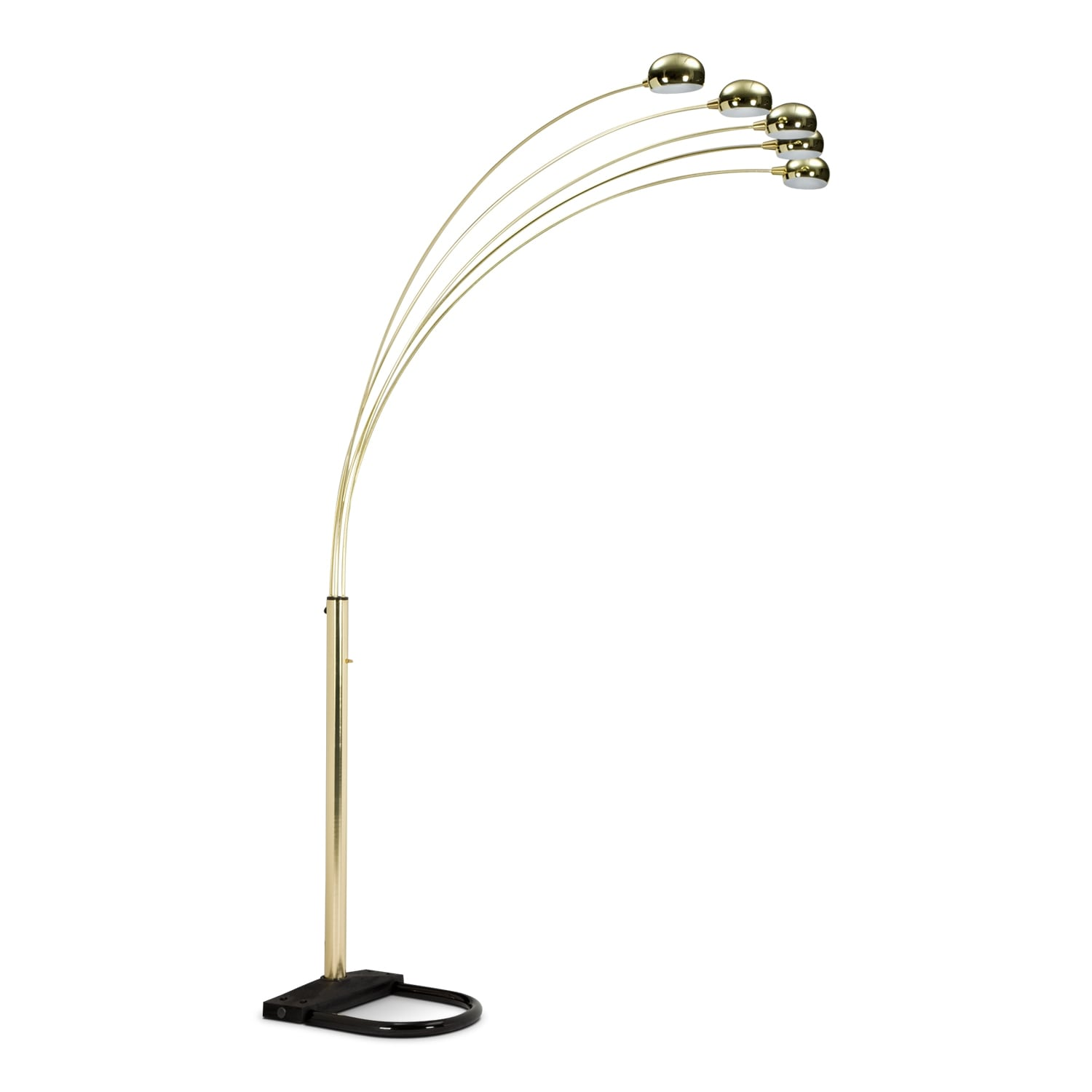 Brass arc floor lamp value city furniture for B q living room lights