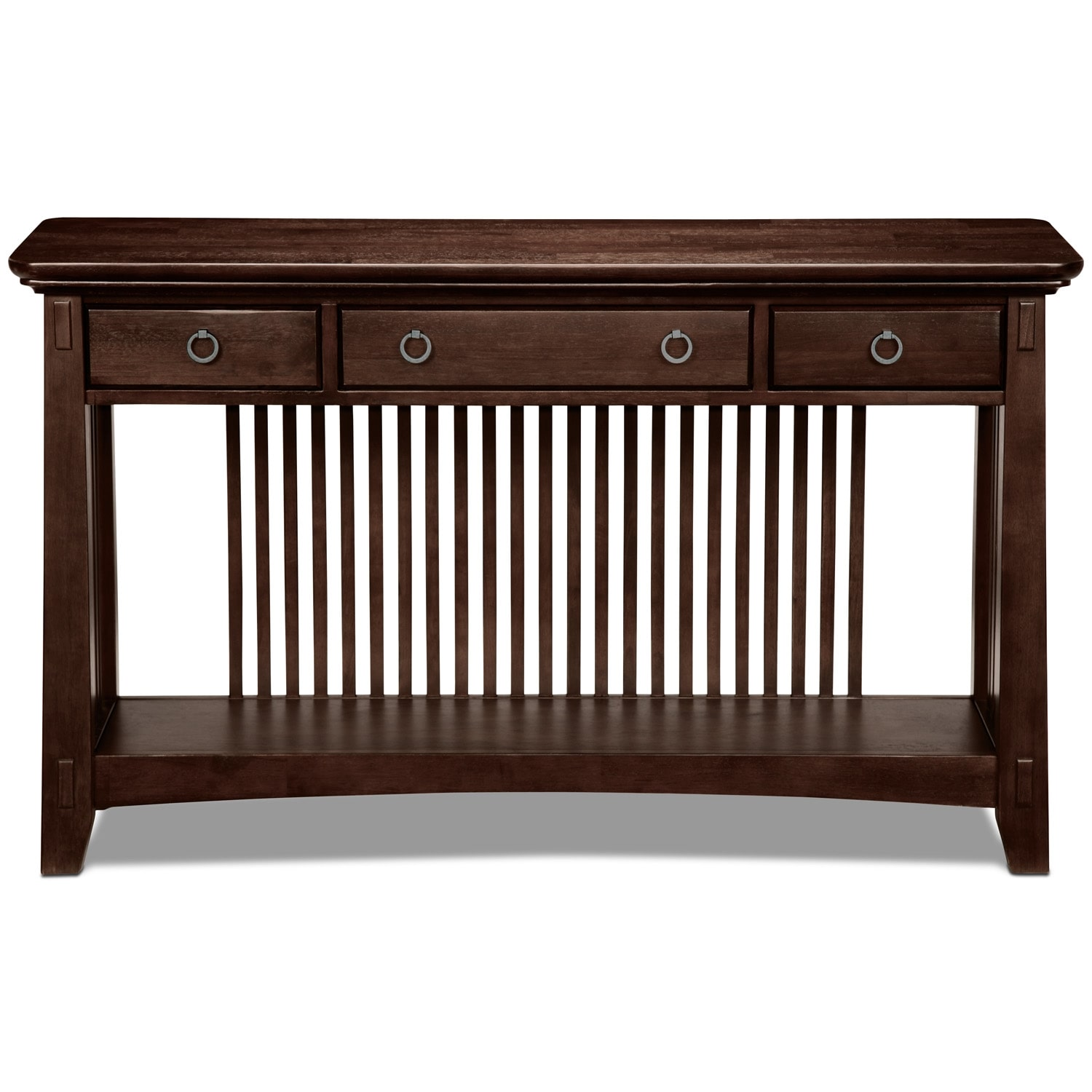 American Signature Furniture Arts And Crafts Collection: Arts & Crafts Sofa Table - Chocolate