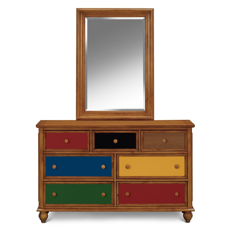 Colorworks Pine Kids Furniture Dresser Mirror Value City Furniture