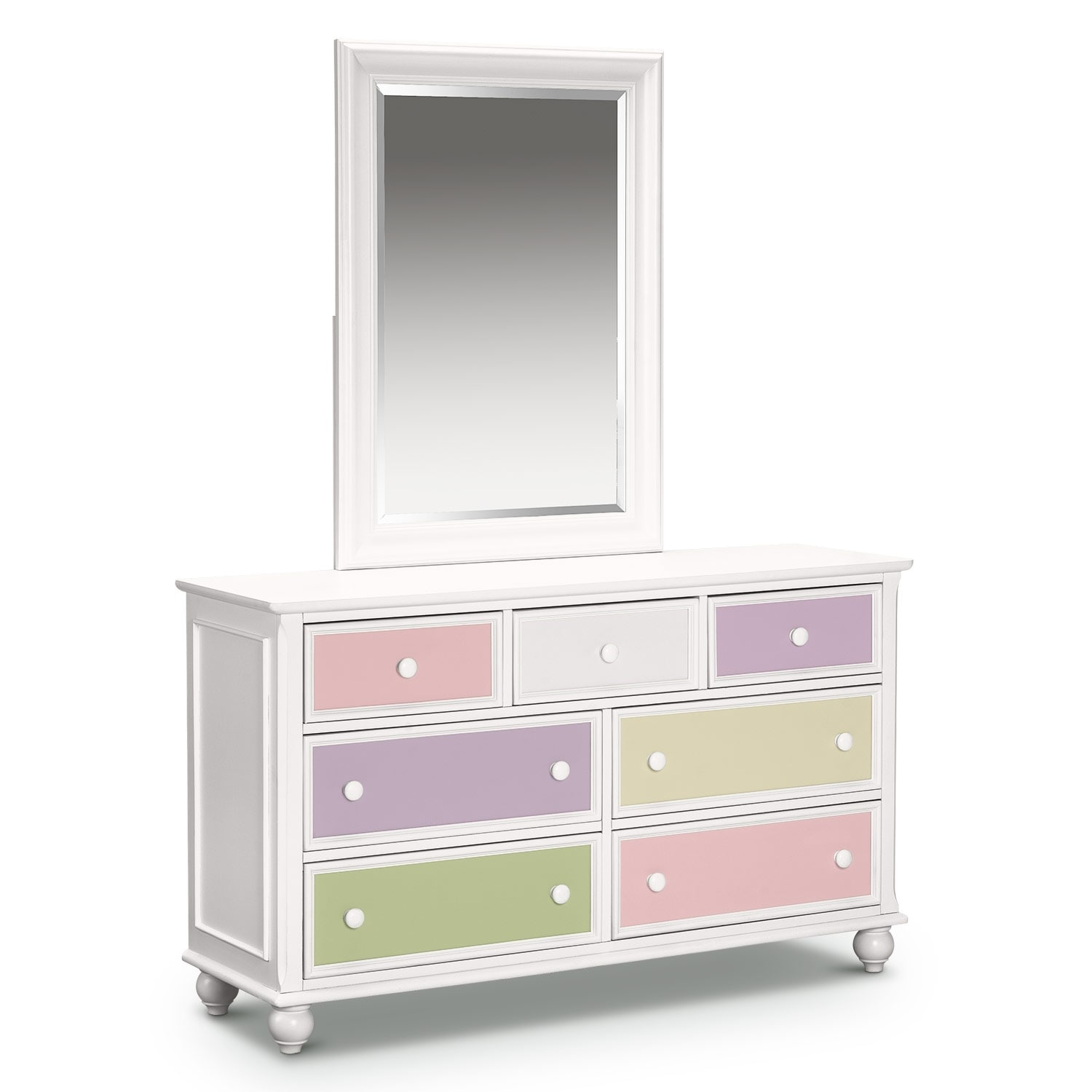 colorworks white dresser mirror value city furniture