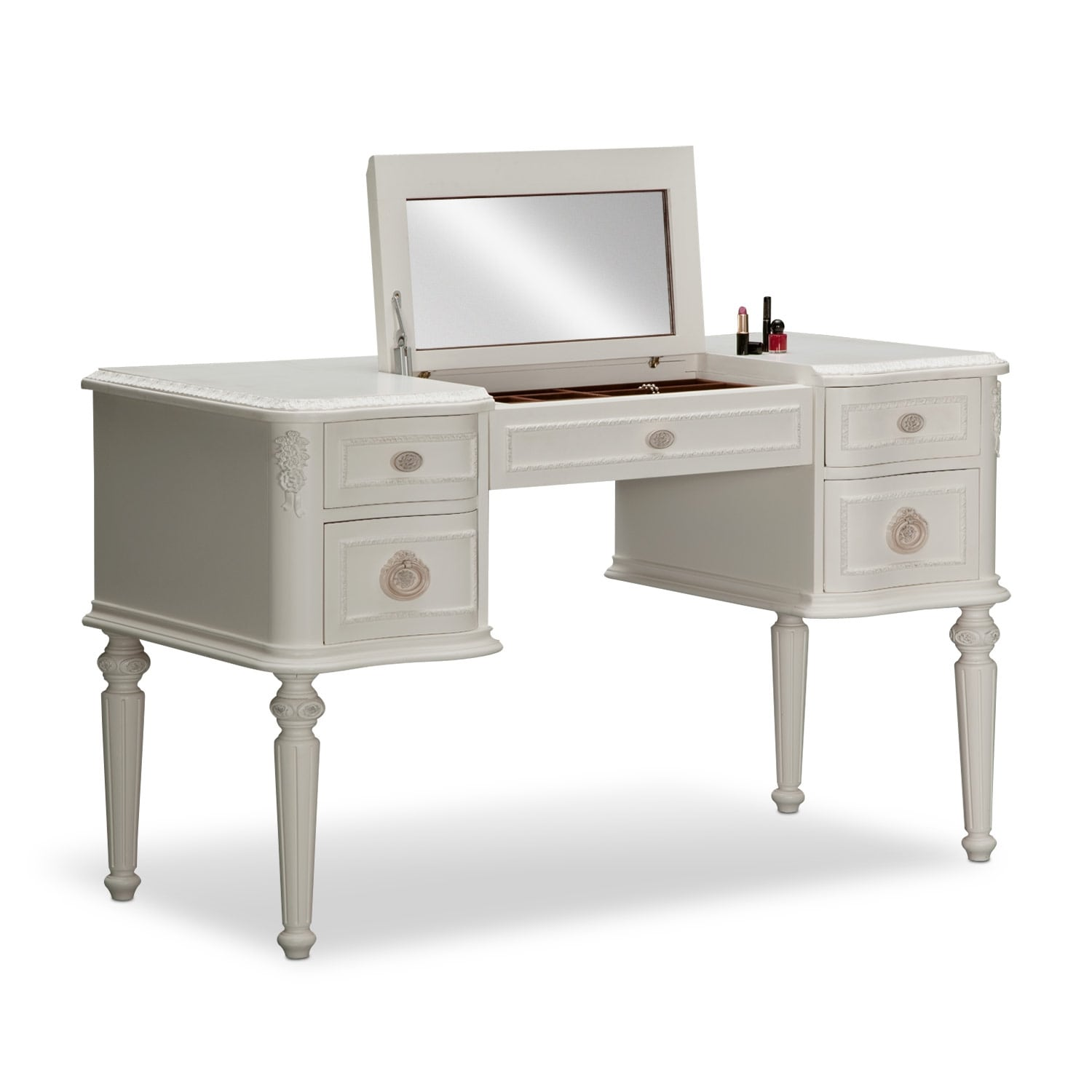 White Desk Vanity 28 Images With
