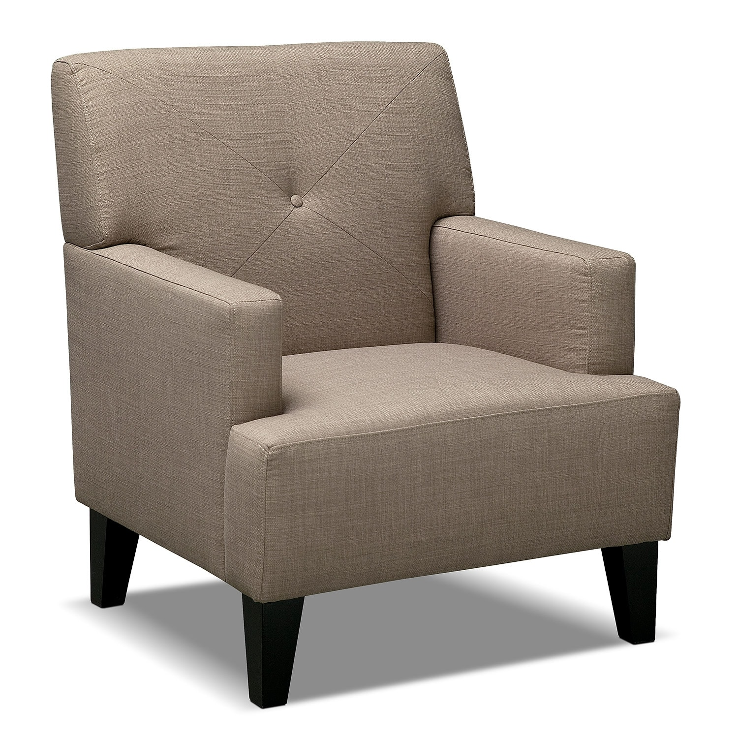 Avalon accent chair wheat value city furniture for Living room with accent chairs
