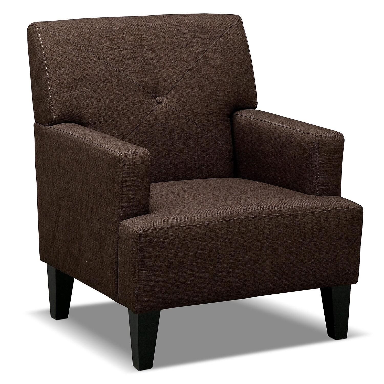 Avalon Accent Chair Espresso Value City Furniture