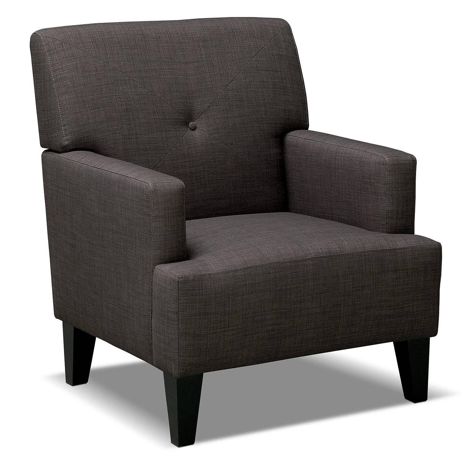 avalon accent chair charcoal value city furniture. Black Bedroom Furniture Sets. Home Design Ideas