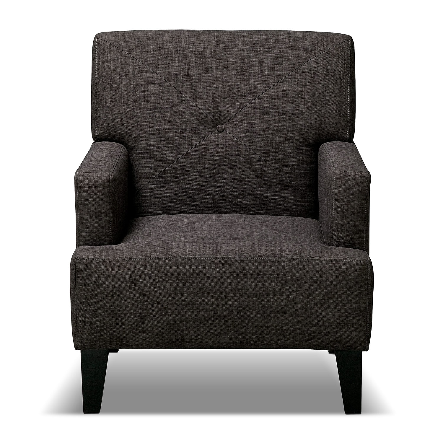 Avalon Accent Chair Charcoal Value City Furniture