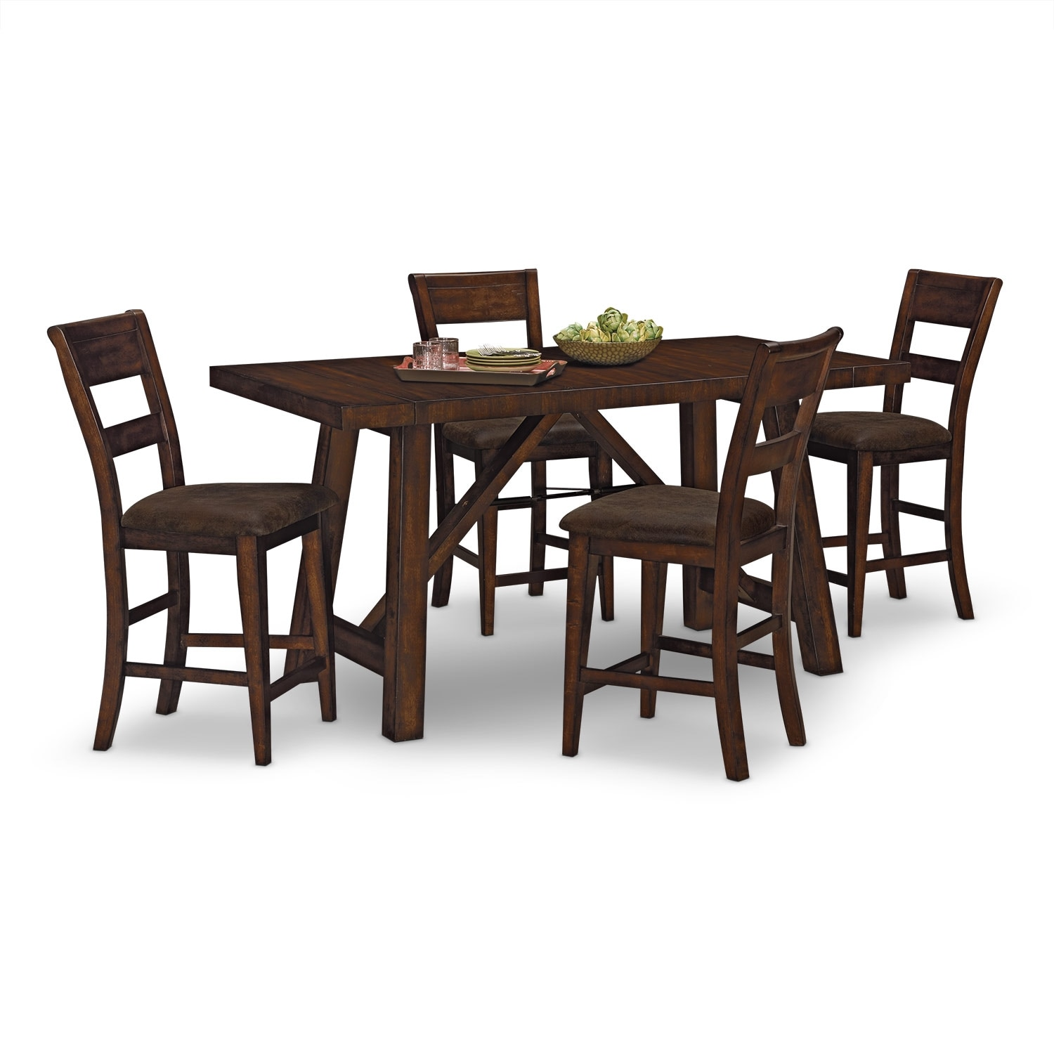 dining room furniture everett 5 pc counter height dinette