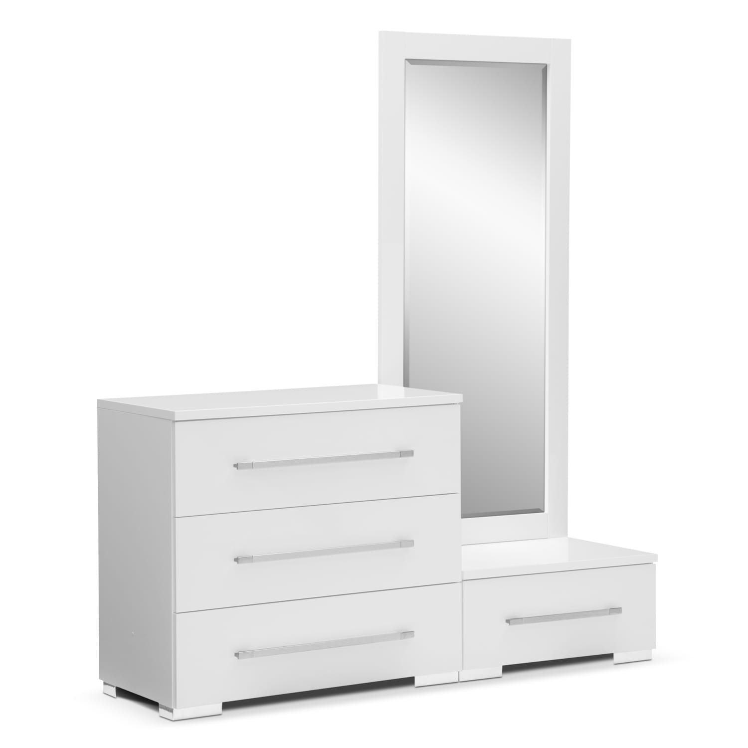 Dimora White Dressing Dresser Dressing Mirror With Step