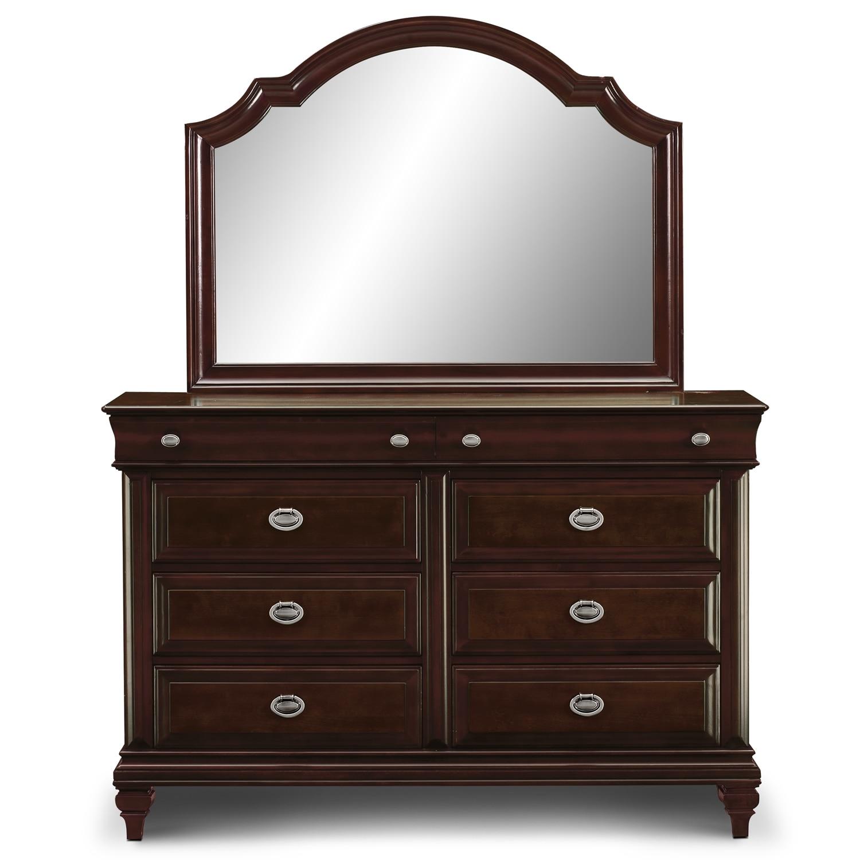 Manhattan Dresser And Mirror Cherry Value City Furniture