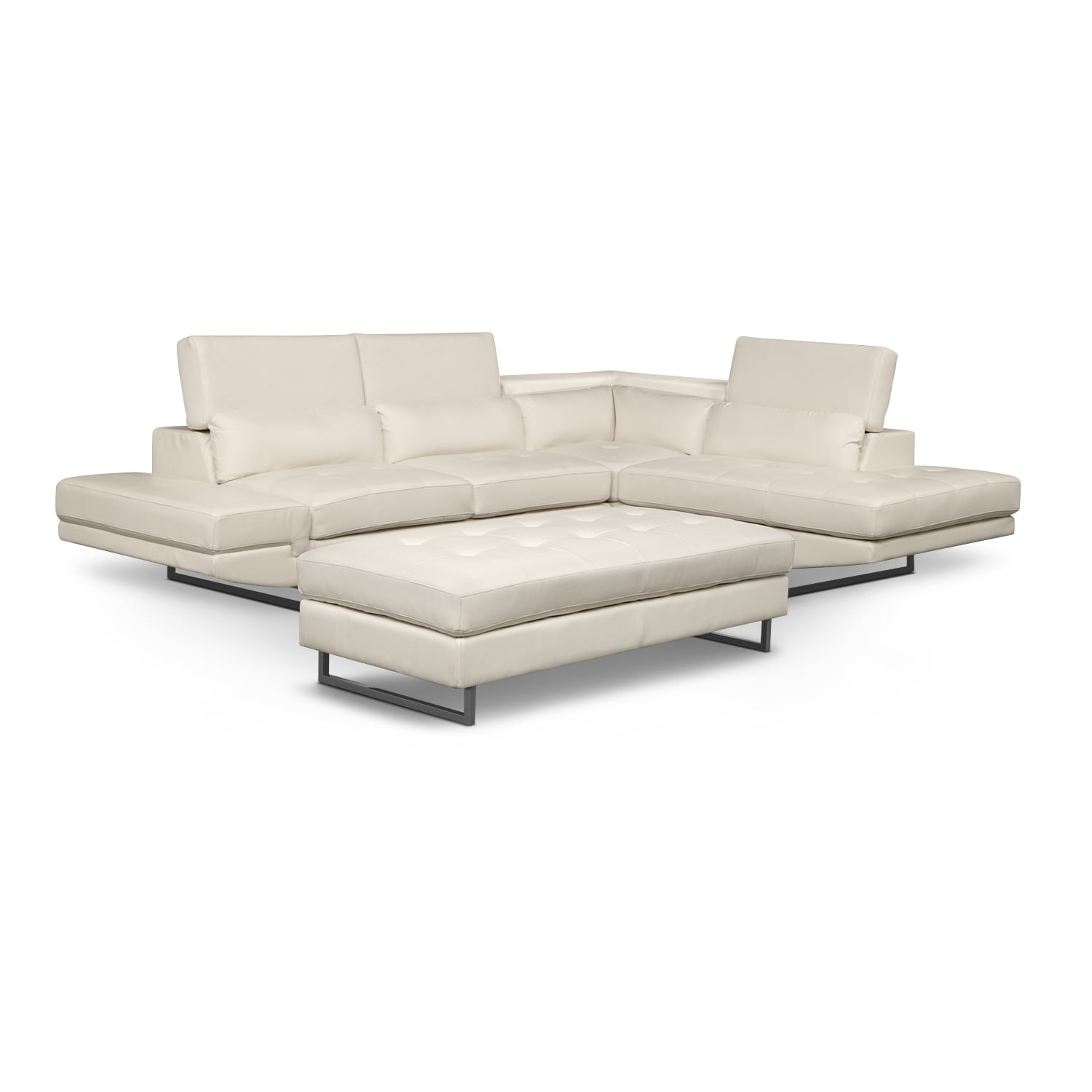 [Madrid 2 Pc. Sectional and Cocktail Ottoman]