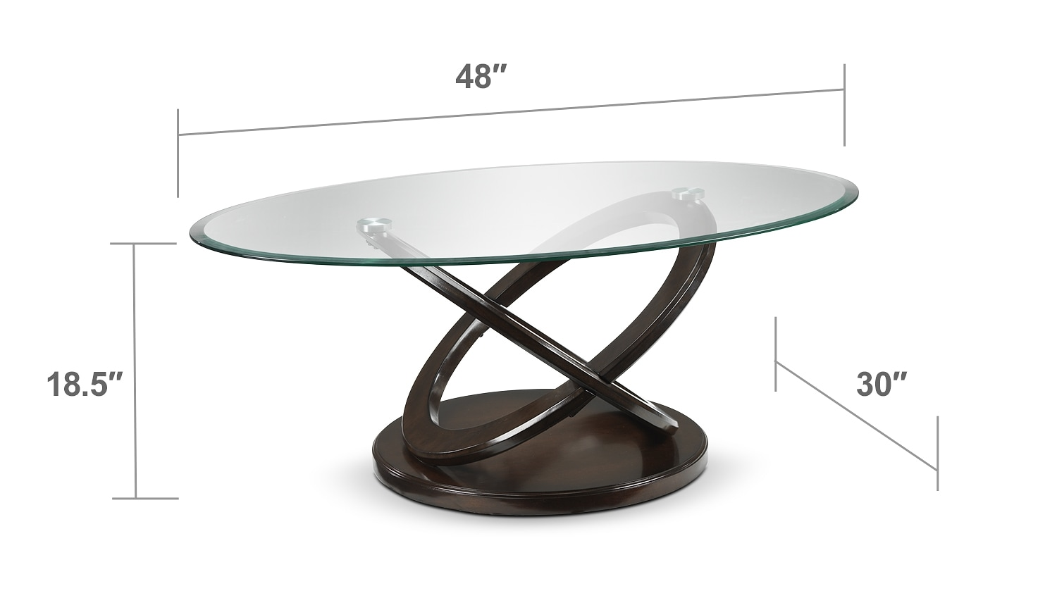Atomic Coffee Table Brown Cherry Leon 39 S
