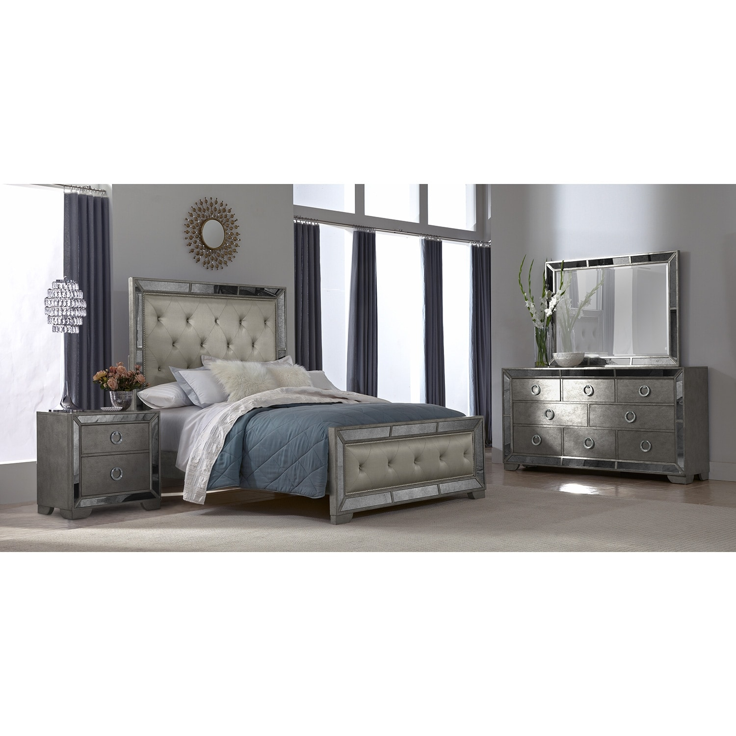 angelina 6 pc queen bedroom value city furniture 17688 | 297749
