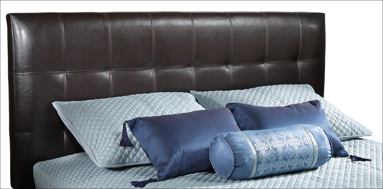 [Moonlight Adjustable Queen Headboard - Brown]