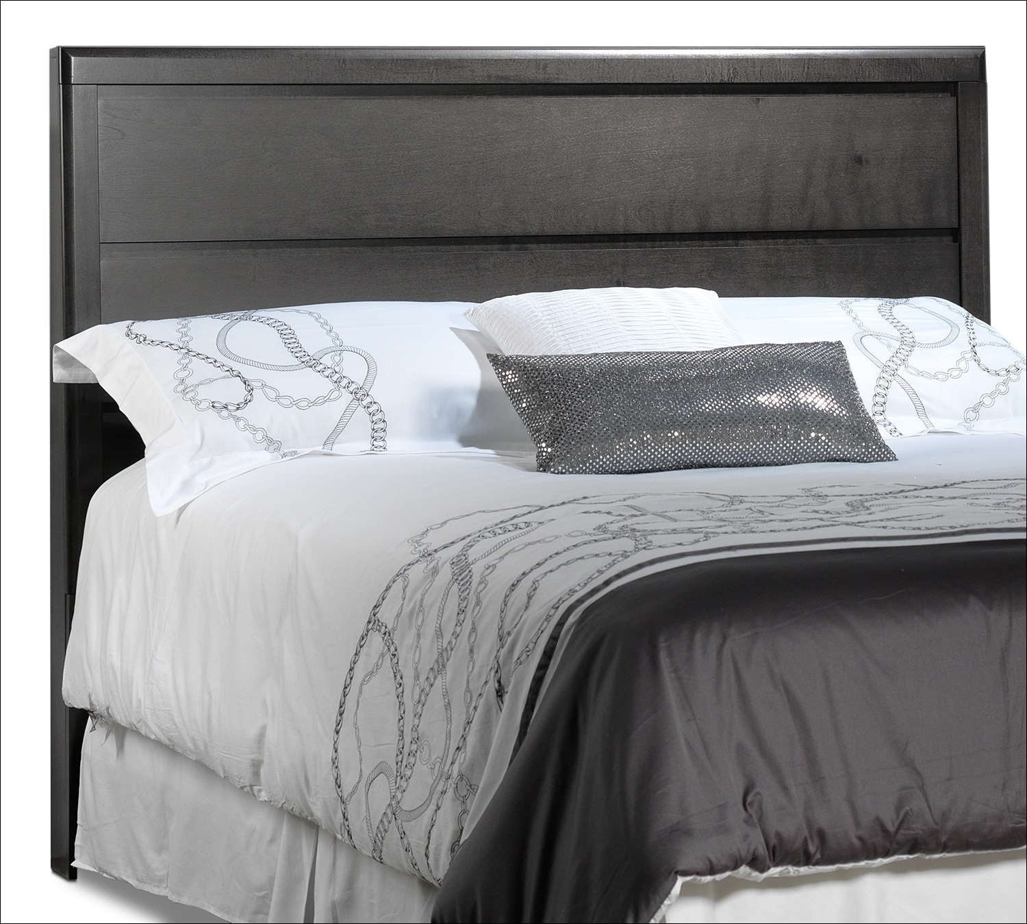 Dessy Queen Headboard - Charcoal