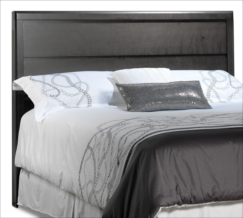 Bedroom Furniture - Dessy Queen Headboard - Charcoal