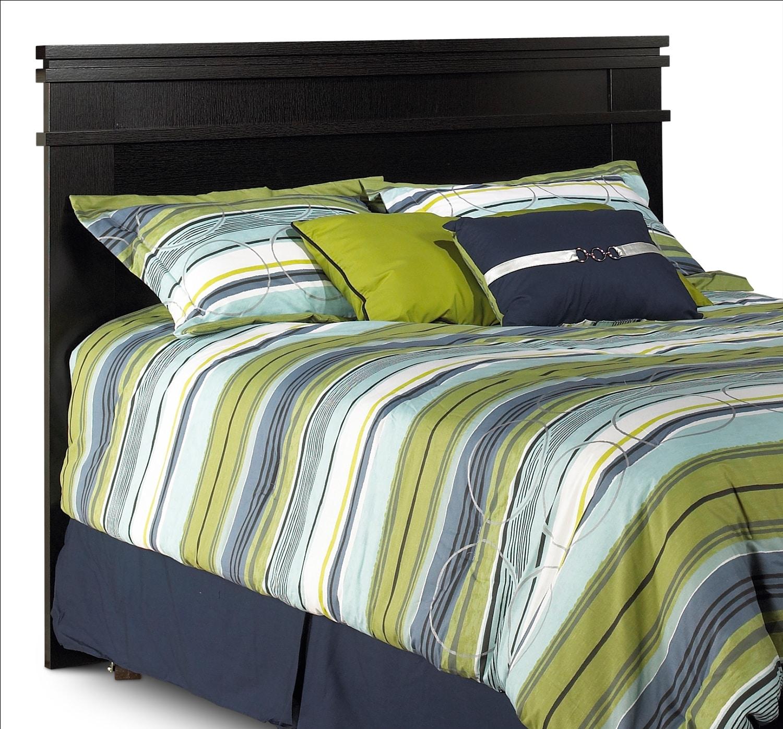 Bedroom Furniture - Vodara Queen Panel Headboard - Dark Espresso