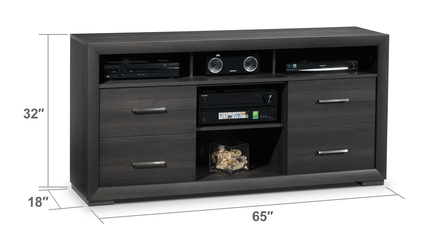 Entertainment Furniture - Iver TV Stand - Grey