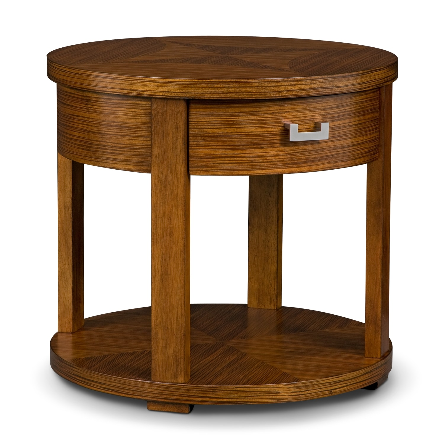 Compass occasional tables round end table value city furniture
