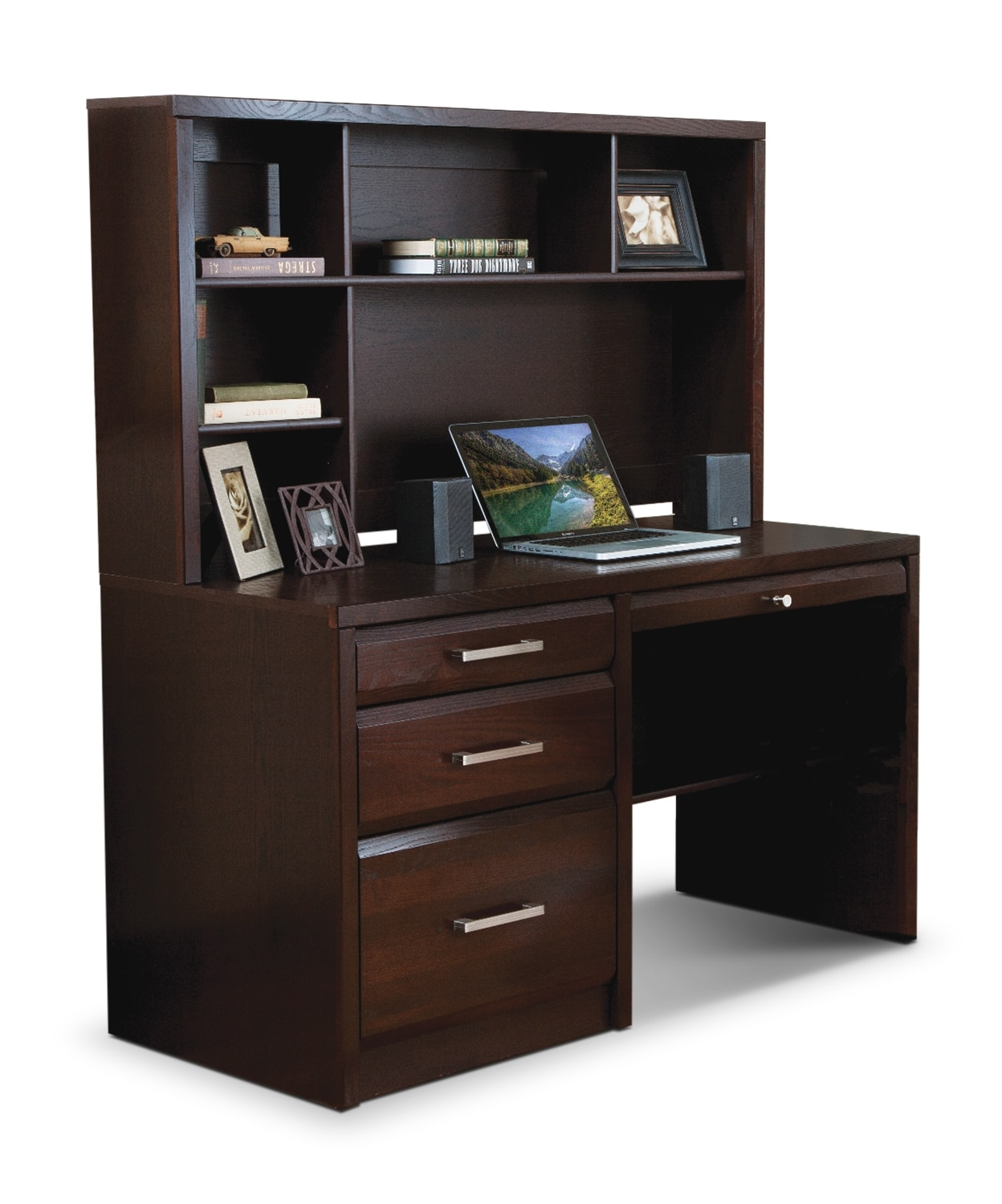 Home Office Furniture - Reed 2-Piece Desk - Espresso