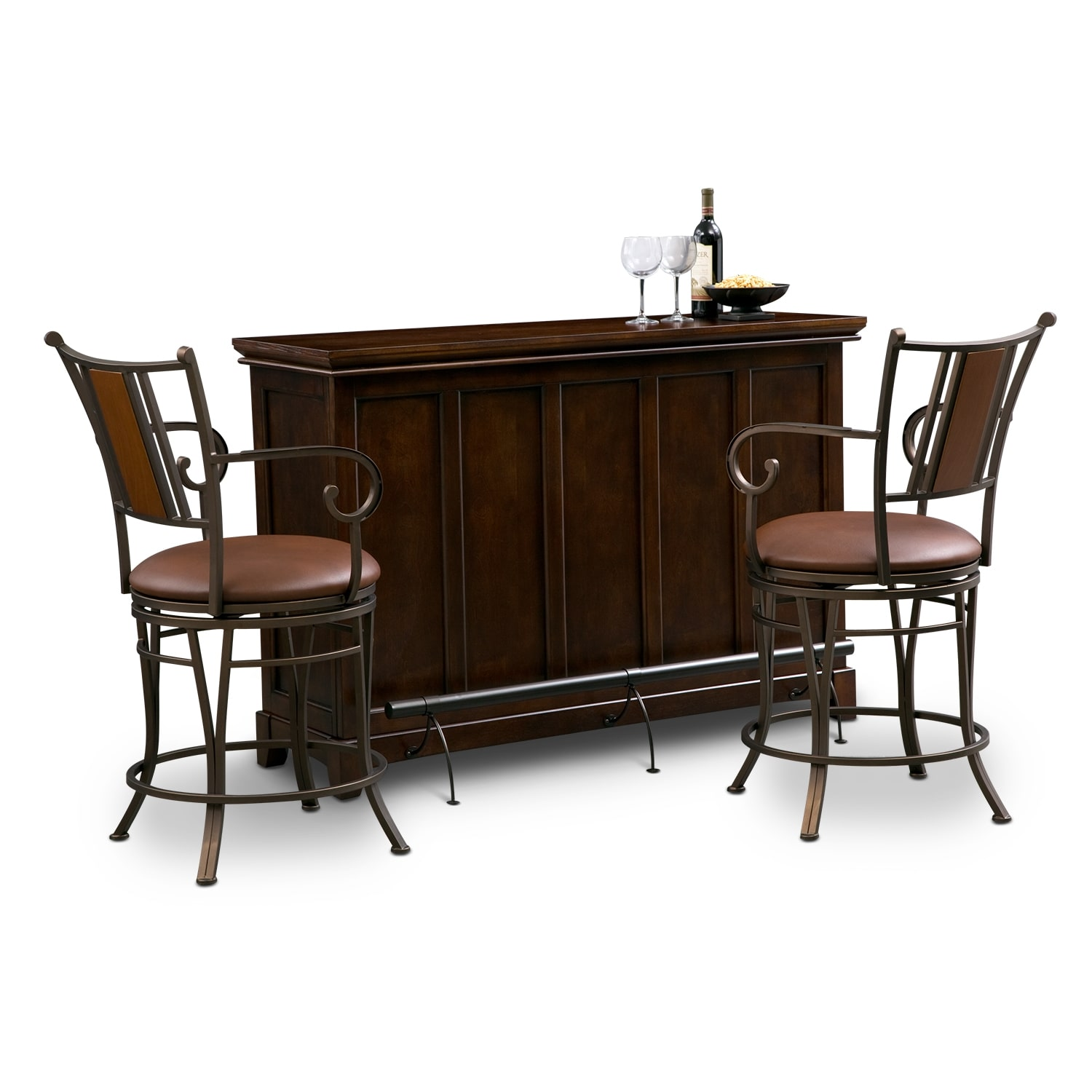 Value City Dining Room Tables Dining Room Furniture Carlton Camden Pc Bar Set Dining Room Pub