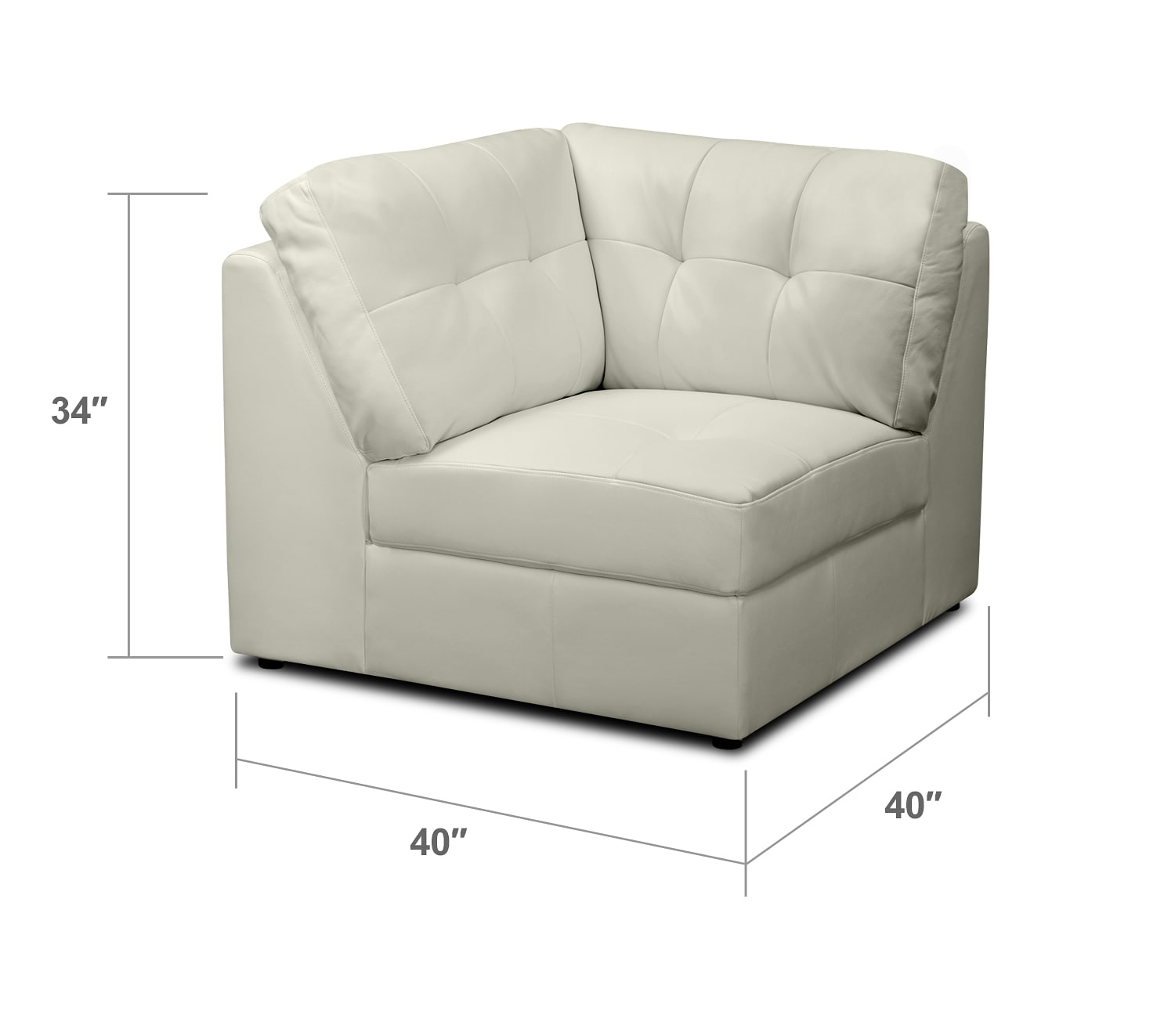 Living Room Furniture - Largo White Wedge