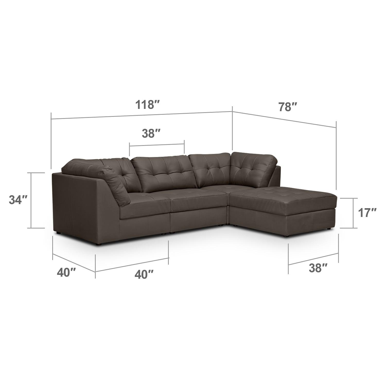 4 Pc Sectional Sofa on Chelsea Home Living Room Sets Walmart