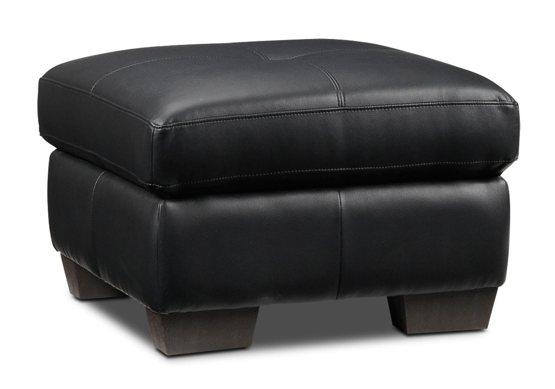 Living Room Furniture - Picasso Ottoman - Black