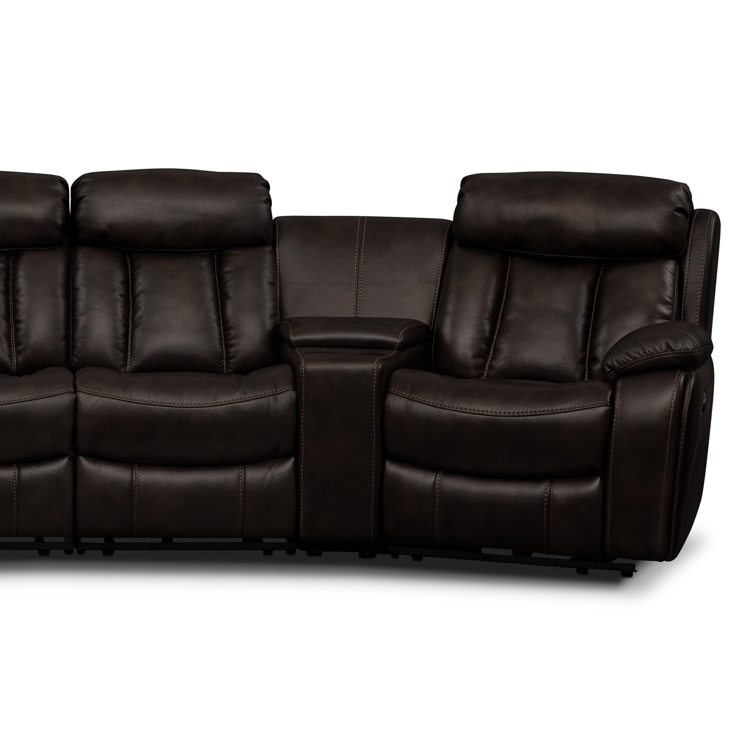 Diablo 6 Piece Power Reclining Sectional With 2 Armless