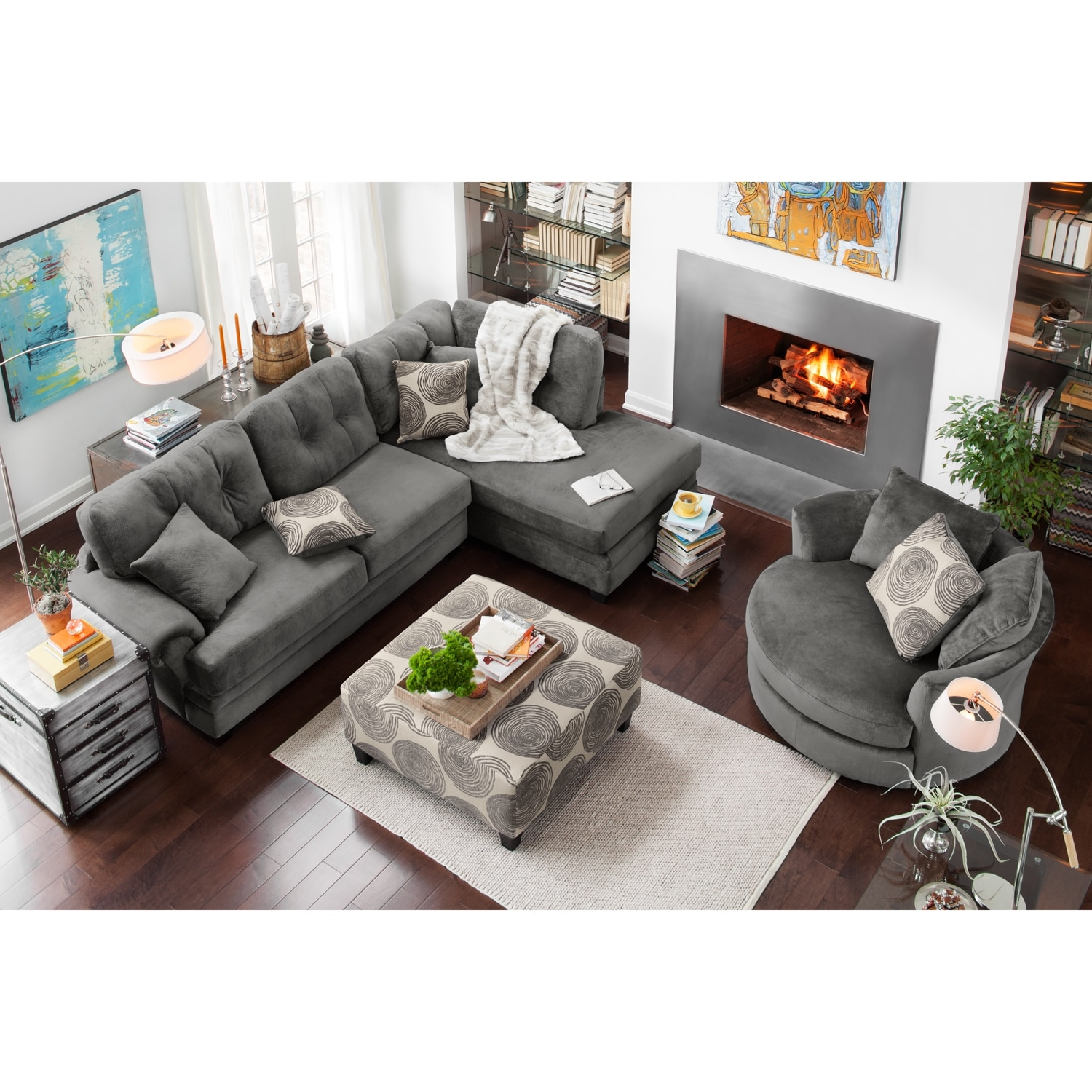 living room furniture rooms to go swivel chair