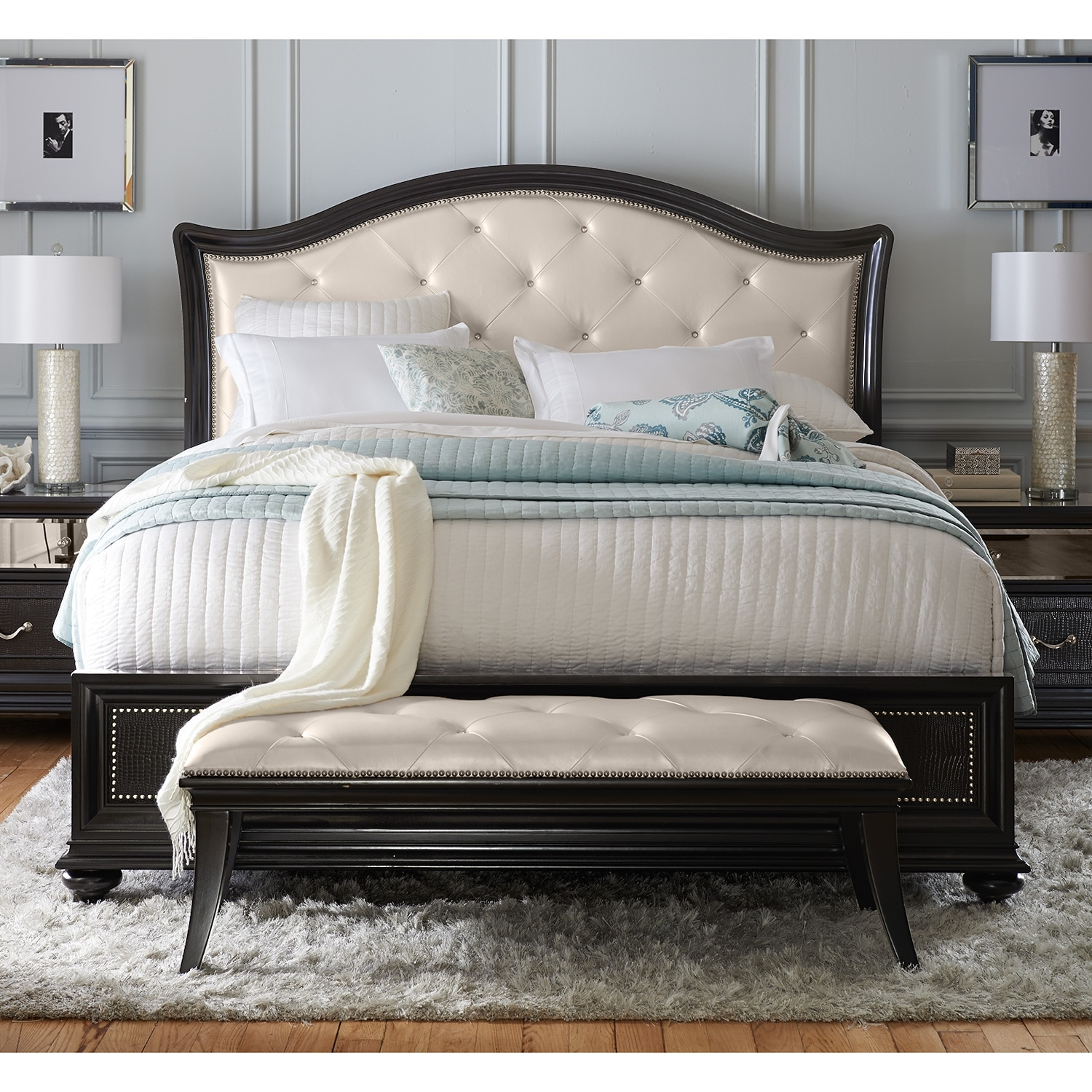 Marilyn queen bed value city furniture Queen bed and mattress