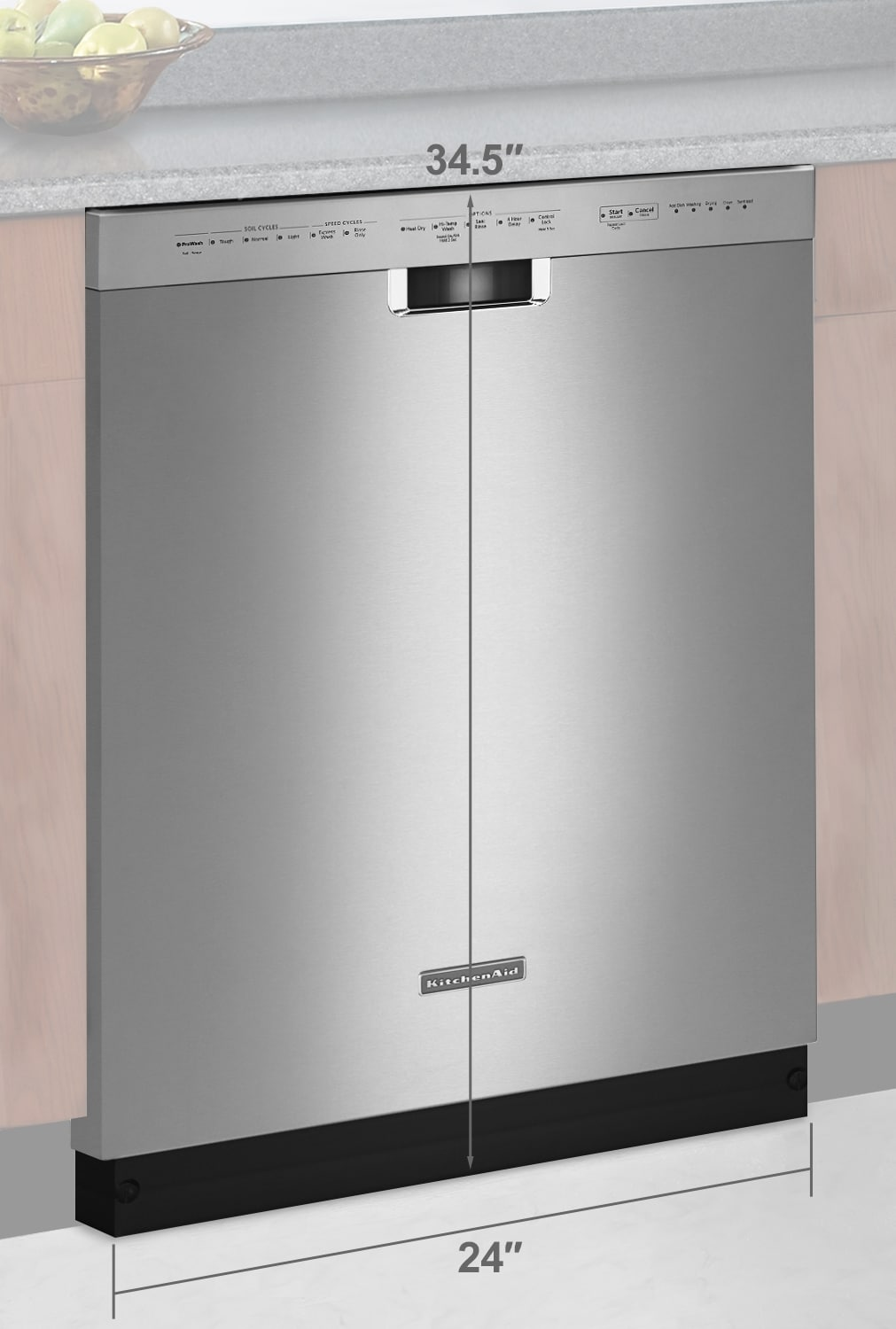 "Clean-Up - KitchenAid Stainless Steel 24"" Dishwasher - KDFE104DSS"