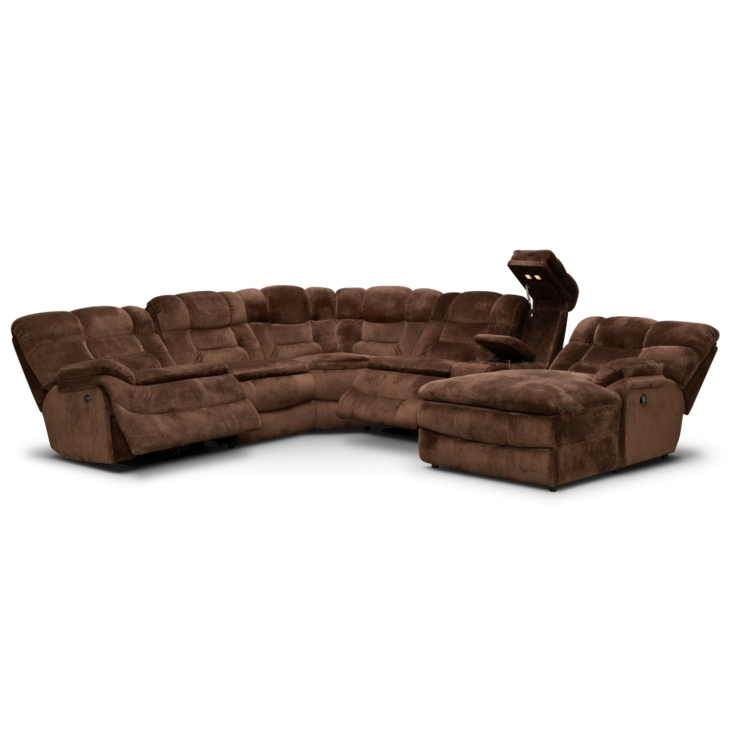 Big Softie 6 Pc Power Reclining Sectional Value City