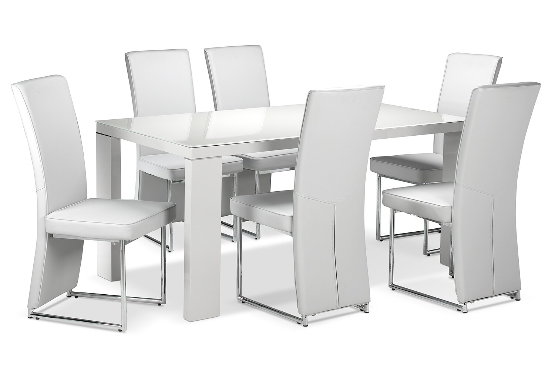 Bleecker 7-Piece Dining Room Set - Light Grey