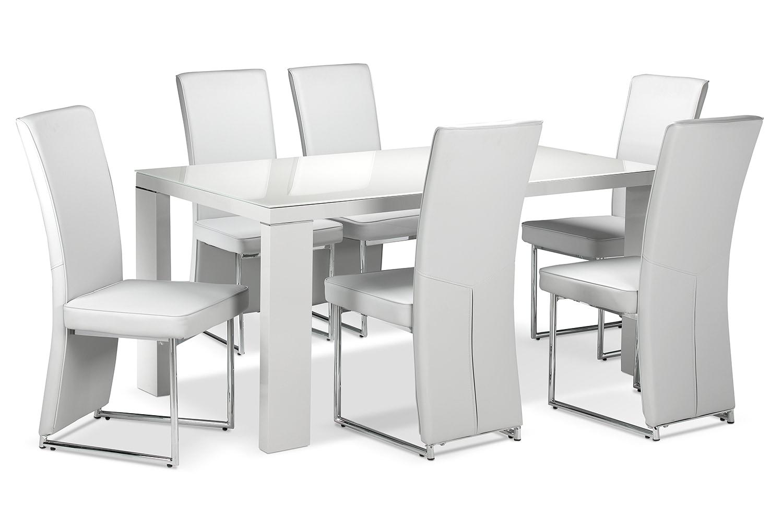 Dining Room Furniture - Bleecker 7-Piece Dining Room Set - Light Grey