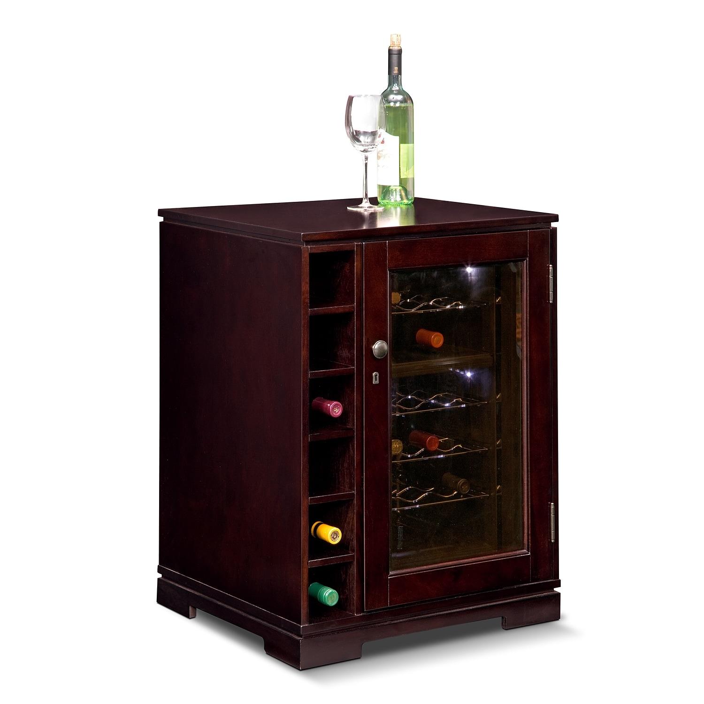 [Horizon Cherry Wine Cabinet with Cooler]