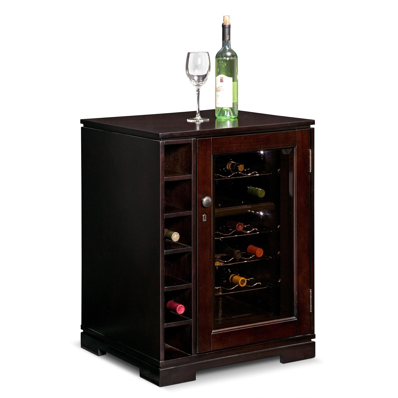 [Horizon Merlot Wine Cabinet with Cooler]