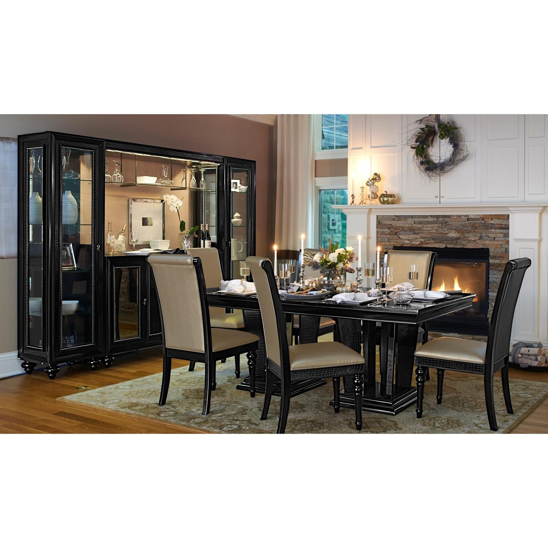 Paradiso dining room wall bar value city furniture for Dining room value city furniture