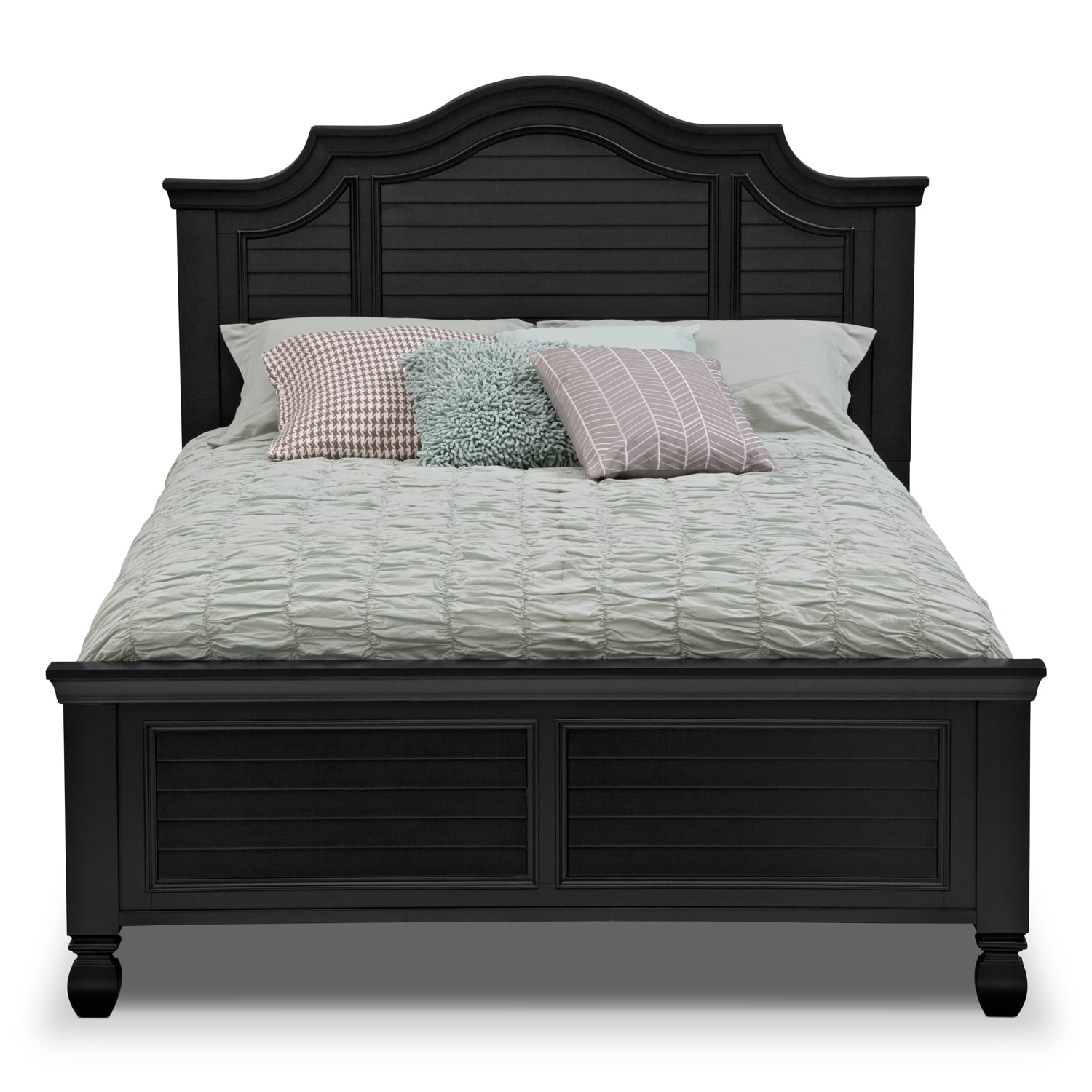 Magnolia Black Queen Bed