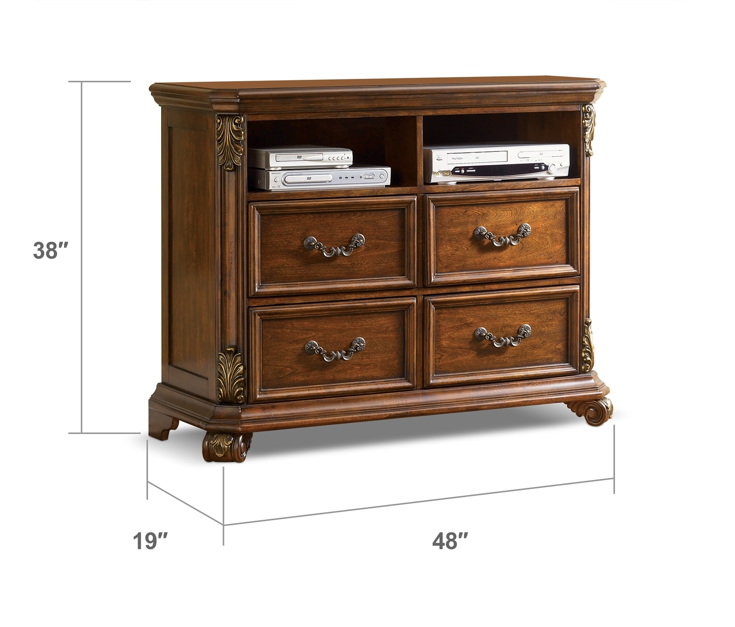 bedroom furniture melino media chest
