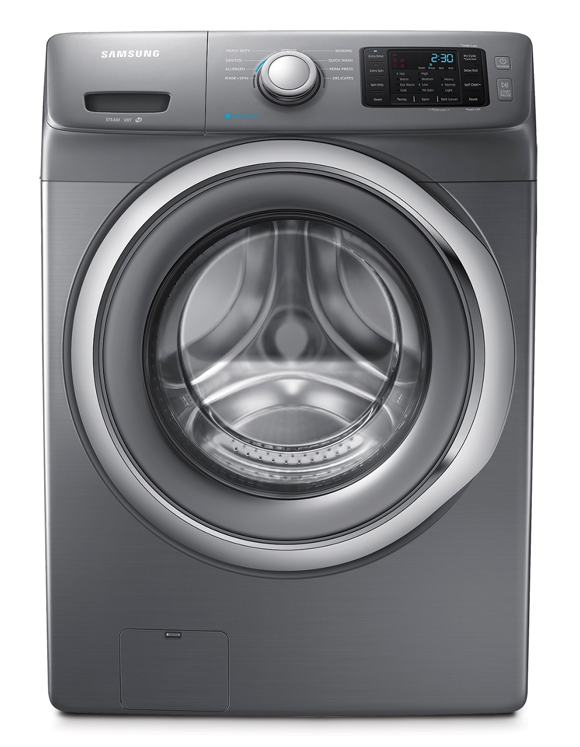 Washers and Dryers - Samsung Stainless Platinum Front Load Washer (4.8 Cu. Ft. IEC) - WF42H5200AP