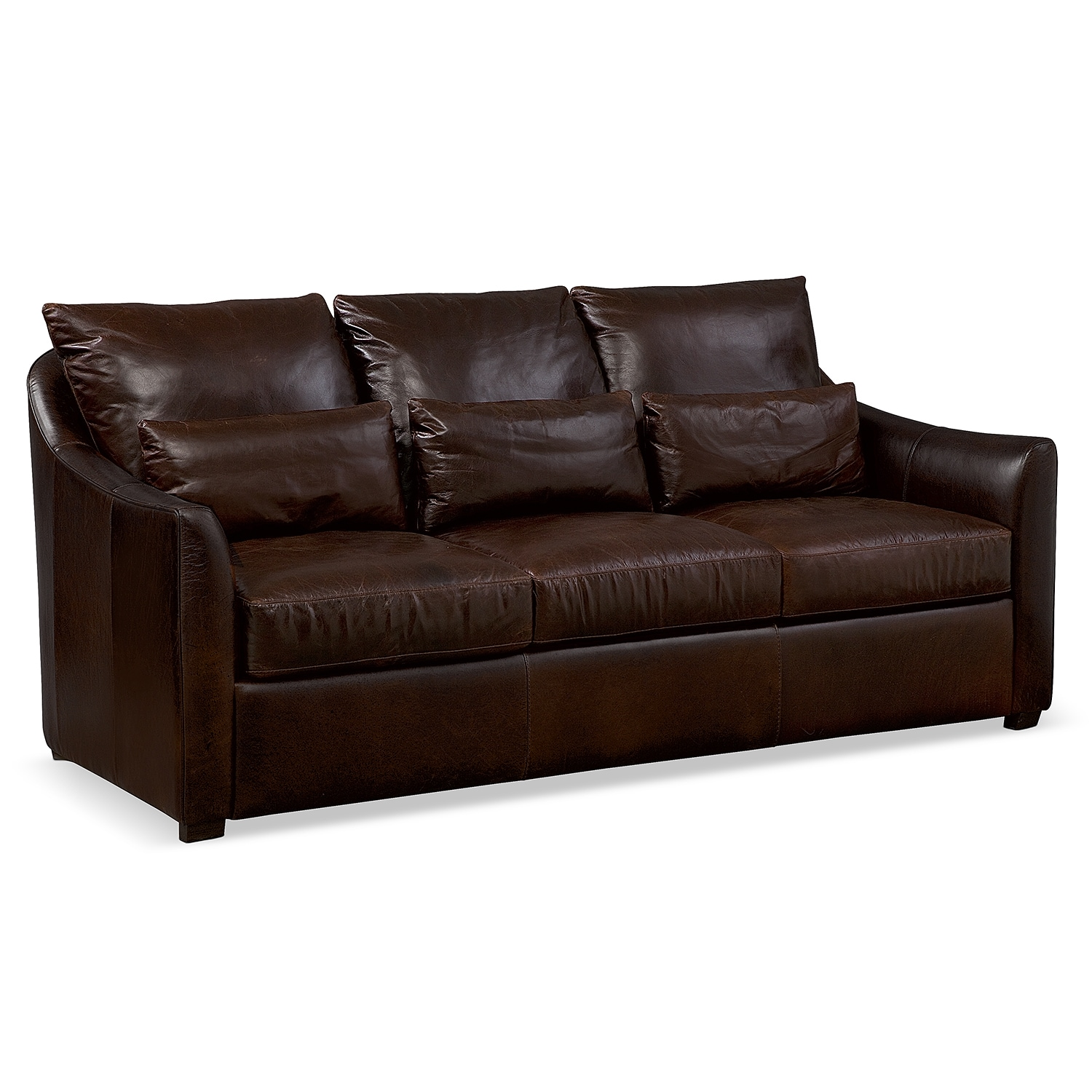 Clifton Leather Sofa Value City Furniture